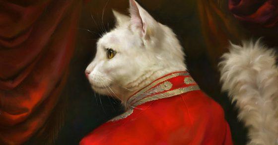 Elegantes y distinguidos gatos