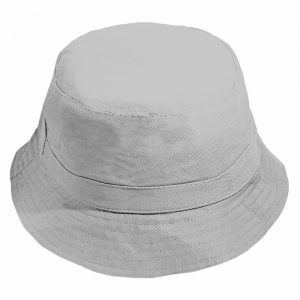 Gorro Bucket Get Out Liso Gris Claro Reversible