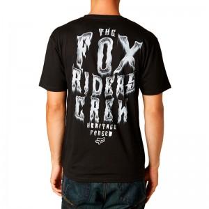 Polera Fox Spinal Check Negra