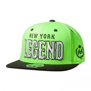 Snapback Niño DoubleAA Premium New York Legend Verde Flúor