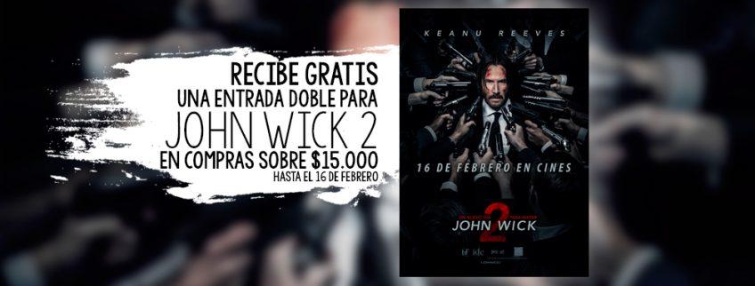 "Gratis: Entradas Dobles Para Ver ""John Wick 2"""