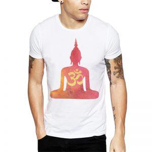 Polera Buddha Om Blanca Get Out