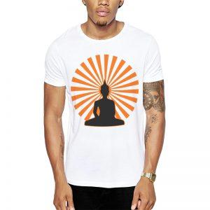 Polera Buddha Sunset Blanca Get Out