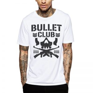 Polera Bullet Club Blanca Get Out