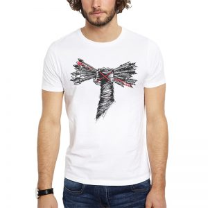 Polera CM Punk Arrows Blanca Get Out