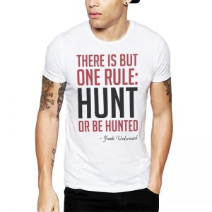 Polera Hunt Or Be Hunted Blanca Get Out