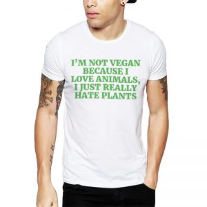 Polera I Hate Plants Blanca Get Out