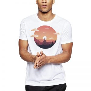 Polera The Mountains Blanca Get Out