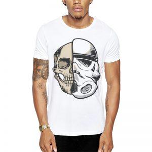 Polera Storm Trooper Skull Blanca Get Out
