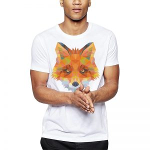 Polera Polygonal Red Fox Blanca Get Out