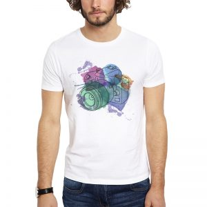 Polera Watercolor Camera Blanca Get Out
