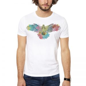 Polera Watercolor Eagle Blanca Get Out
