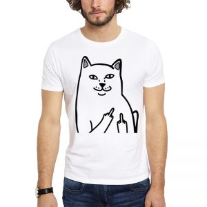 Polera Finger Kitty Blanca Get Out