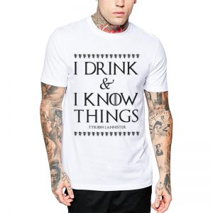 Polera GoT I Drink & I Know Things Blanca Get Out