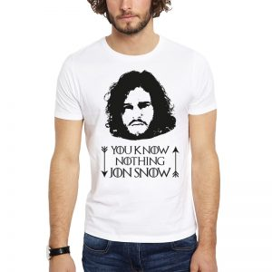 Polera GoT You Know Nothing Jon Snow Blanca Get Out