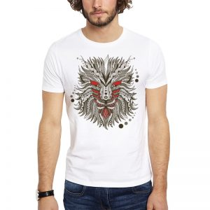 Polera Geometrical Dragon Blanca Get Out