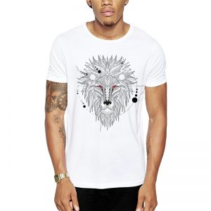 Polera Geometrical Lion Blanca Get Out