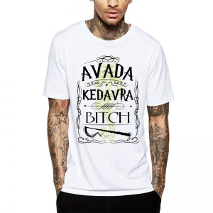 Polera Harry Potter Avada Kedavra Bitch Blanca Get Out