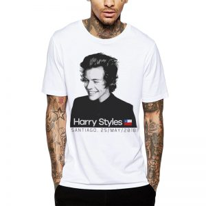 Polera Harry Styles Chile 2018 Blanca Get Out