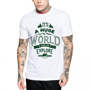Polera It's A Huge World Blanca Get Out