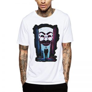 Polera Mr. Robot Dark Walk Blanca Get Out