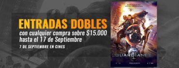 """Promoción: Entradas Dobles Para Ver """"Guardianes"""" Gratis"""
