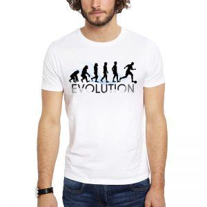 Polera Evolution Fútbol Blanca Get Out