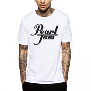 Polera Pearl Jam Drums Blanca Get Out