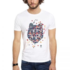 Polera Ethnic Wolf Blanca Get Out