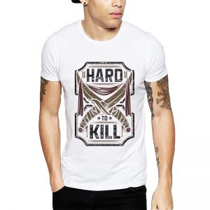 Polera Hard To Kill Blanca Get Out