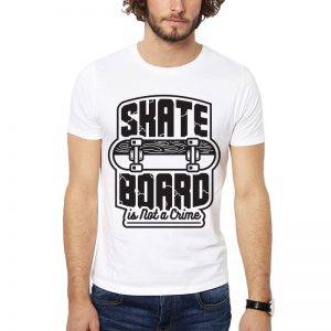 Polera Skateboard Is Not A Crime Blanca Get Out