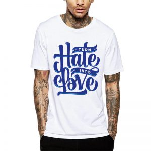 Polera Turn Hate Into Love Blanca Get Out