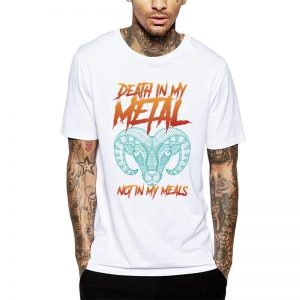 Polera Death In My Metal Not In My Meals Blanca Get Out