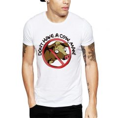 Polera Don't Have A Cow, Man! Blanca Get Out