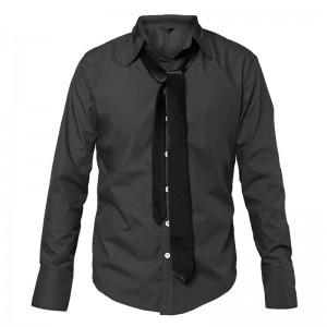 Camisa con Corbata Integrada Gris
