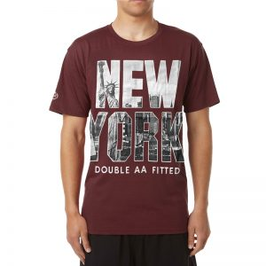 Polera DoubleAA New York Postcard Burdeo