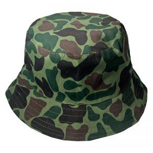 Gorro Bucket Get Out Camuflado Verde