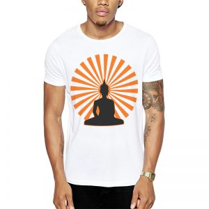 Polera Buddha Sunset Blanca Get Out