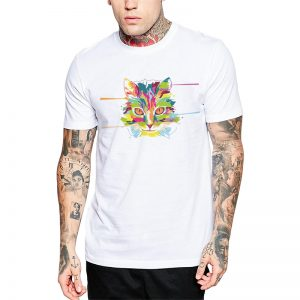 Polera Pop Cat Blanca Get Out