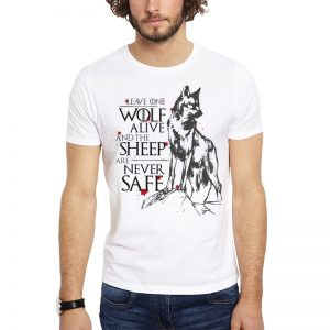 Polera GoT Leave One Wolf Alive Blanca Get Out