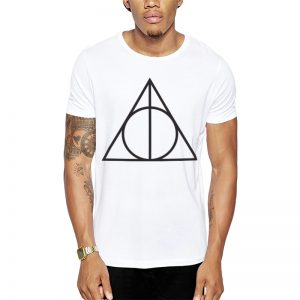 Polera Harry Potter Deathly Hallows Symbol Blanca Get Out