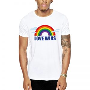 Polera Love Wins Blanca Get Out