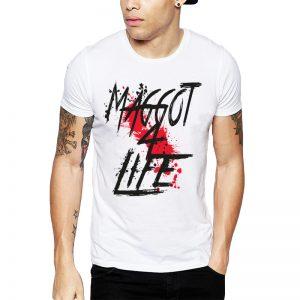 Polera Slipknot Maggot 4 Life Blanca Get Out