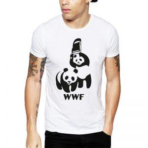 Polera WWF Pandas Blanca Get Out