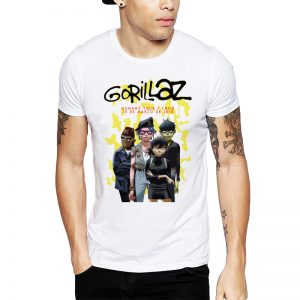 Polera Gorillaz Chile 2018 Blanca Get Out
