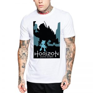 Polera Horizon Zero Dawn Blanca Get Out