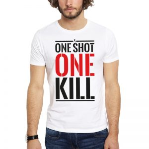 Polera Tom Clancy's Rainbow Six Siege One Shot Blanca Get Out