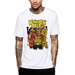 Polera Knock Out Blanca Get Out