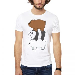 Polera We Bare Bears Pile Blanca Get Out