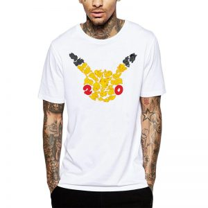 Polera Pokemon 20th Anniversary Blanca Get Out